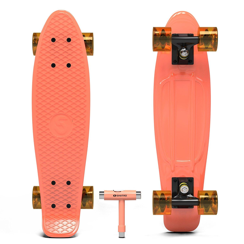 Orange Penny Board   Kahoy Skim